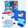 Original Gift for Newborns | With 6 Cupcakes made with beach clothes and diapers | for Baby Boys