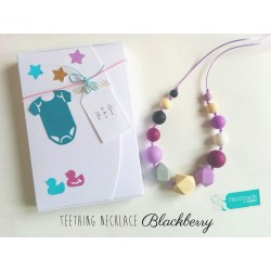 "Breastfeeding Necklace ""Blackbarry"" + Gift Box"