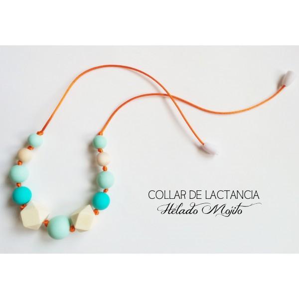 """Collar de Lactancia + Caja Regalo   Modelo""""Ocean"""""""
