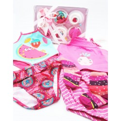 SUMMER GIFT IDEA: Original Gift for Newborns | With 6 Cupcakes made with summer clothes and diapers | for Baby Girls