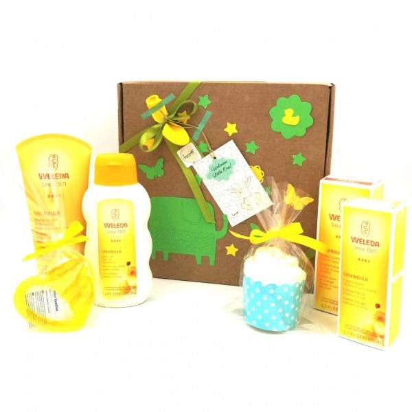 WELEDA Gift Idea with 4 Weleda Products + teether | Available in Boys, Girls and Unisex Version