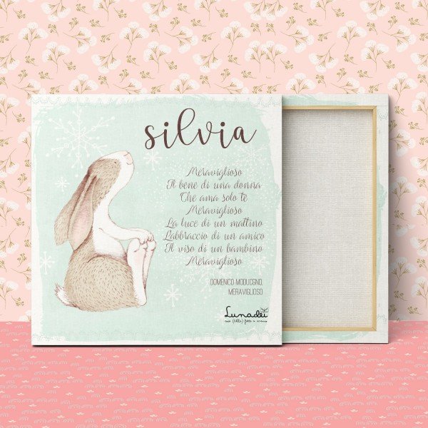 "Customizable Canvas for Babies/Children | Model ""Silvia"""