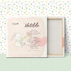 "Customizable Canvas for Babies/Children | Model ""Matilde"""