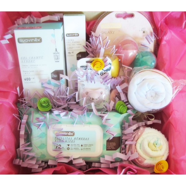 """Gift Idea WELEDA with 4 Weleda Products + Accesories for Babies 